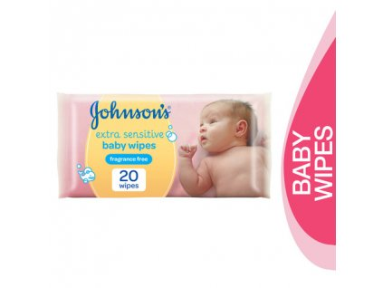 Johnson's Extra Sensitive vlhčené utierky 20ks