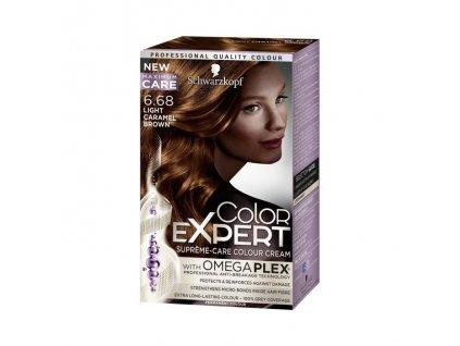 Schwarzkopf Color Expert farba na vlasy 6.68 Orieškovohnedý 1ks