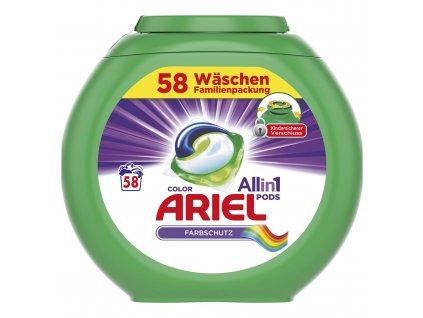 Ariel 3in1 gélové kapsule do prania 58ks
