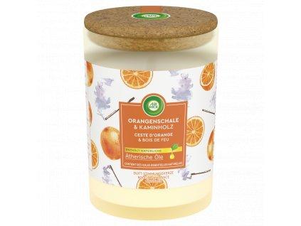 Air Wick Essential Oils Pomaranč & Vonná tyčinka vonná sviečka 185g