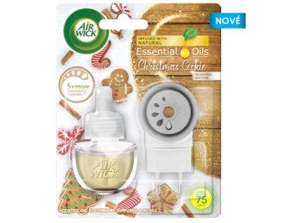 Air Wick Essential Oils Vianočné pečivo elektrický osviežovač + náplň 19ml