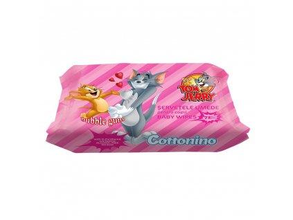 Cottonio Bubble Gum vlhčené detské obrúsky 72ks