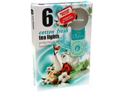 Čajové vonné sviečky (6ks) Cotton Fresh