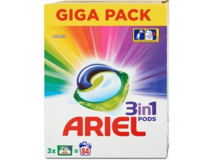 Ariel 3in1 Color gélové kapsule 84ks