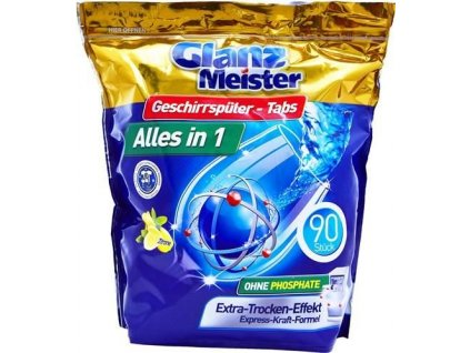 Glanz Meister Citrón tablety do umývačky riadu 90ks