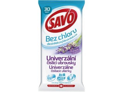 Savo univerzálne čistiace utierky na dezinfekciu Levander 30ks