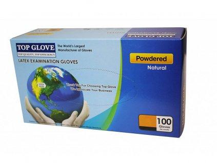 op Glove jednorázové latexové rukavice s púdrom 100ks XL