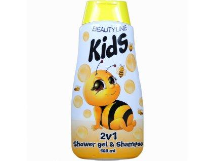 Beauty Line Včielka Maja 2v1 sprchový gél + šampón na vlasy 500ml