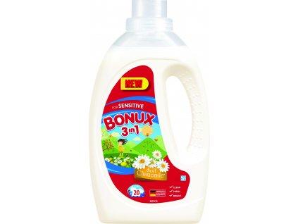 Bonux Sensitive Soft Chamomile 3v1 gél na pranie 20PD 1,1l