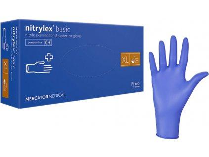 Nitrylex nitril jednorázové rukavice bez púdru 200ks XL