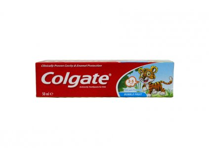 Colgate Bubble Fruit detská zubná pasta 2-5rokov  50ml