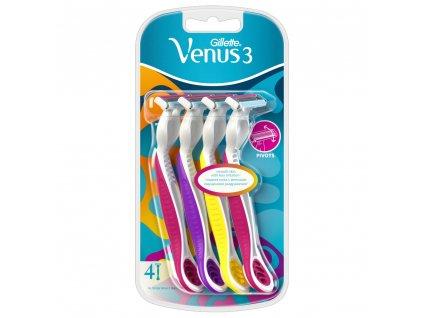 Gillette Venus 3 jednorázové žiletky 4ks
