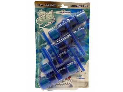 Sky Blue Aktiv Eukalypt tuhý WC Blok 4x65g