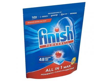 Finish Powerball All in One Max Lemon tablety do umývačky riadu 48ks