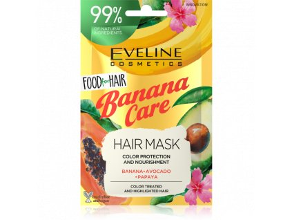 Eveline Cosmetics Banana Care maska na farbené vlasy 20ml