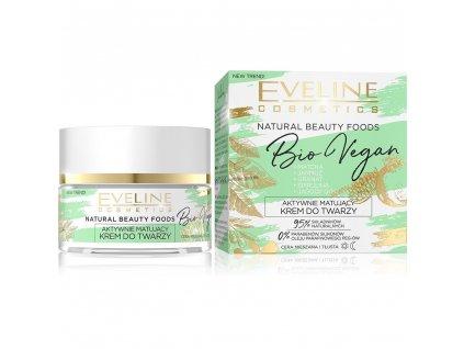EVELINE Bio Vegan aktívne zmatňujúci pleťový krém 50ml