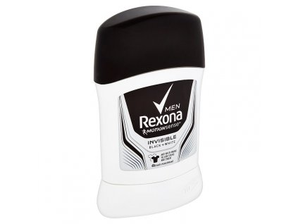 Rexona Men Invisible Black + White tuhý antiperspirant pre mužov 50 ml
