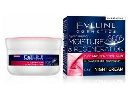 EVELINE Cosmetics Hydra Impact Regeneračný nočný krém pre suchú a citlivú pleť 50ml
