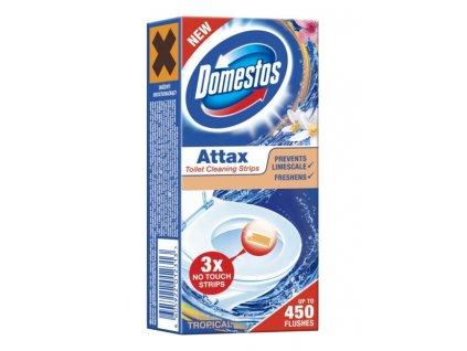 Domestos Attax Tropical gélová páska do WC misy 3x10 g