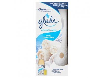 Glade Pure Clean Linen osviežovač vzduchu 269ml + strojček