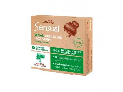 Joanna Sensual vegánske voskové depilačné pásiky 12ks