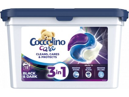 Coccolino Care black&dark kapsule 18 PD