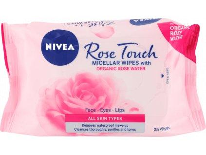 NIVEA Micelárne čistiace pleťové utierky Rose Touch 25ks