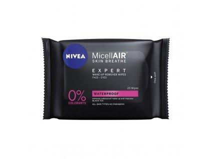 Nivea MicellAIR Expert Waterproof čistiace obrúsky 20ks