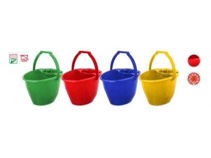 Bonus Vedro 11l +žmýkací košík zelené