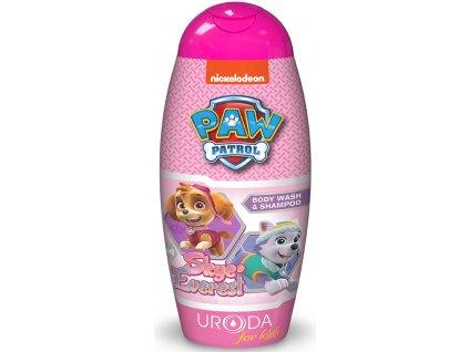 Nickelodeon Labková Patrola sprchový gél a šampón na vlasy pre dievčatá 250ml