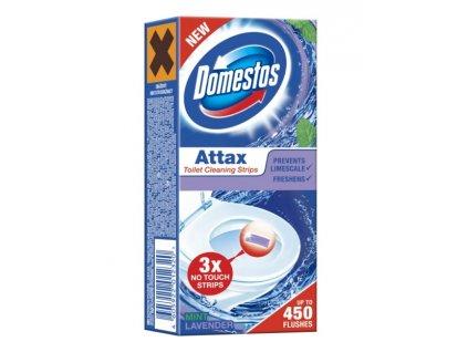 Domestos Attax Levander gélová páska do WC misy 3x10 g