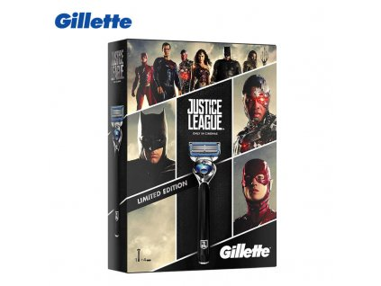 Gift pack Gillette Fusion Proshield Chill Justice League with 4 replacement cartridges Shaving Razor Blades for.jpg q50