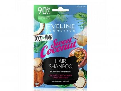 EVELINE Sweet coconut hydratačný šampón pre suché vlasy 20ml
