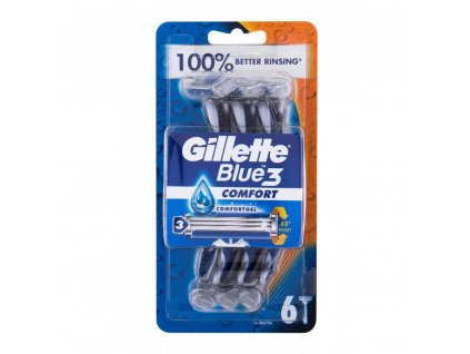 gillette blue3 holiaci strojcek pre muzov 6 ks 329767