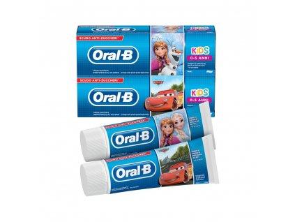 Oral B detská zubná pasta Cars and Frozen 75 ml