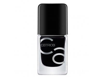 Catrice Iconails lak na nechty s gélovým efektom 20 Black to the routes 10,5ml