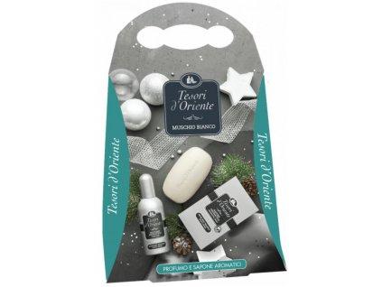 Tesori d'Oriente White Musk mydlo 150g + parfém 100ml darčekový set