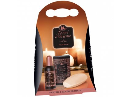 Tesori d'Oriente Hammam mydlo 150g + parfém 100ml darčekový set