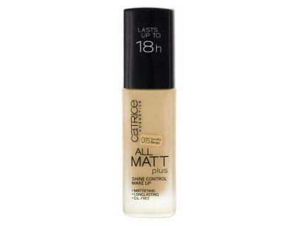 Catrice All Matt Plus Shine Control Make Up Matujacy Podklad 015 Vanilla Beige