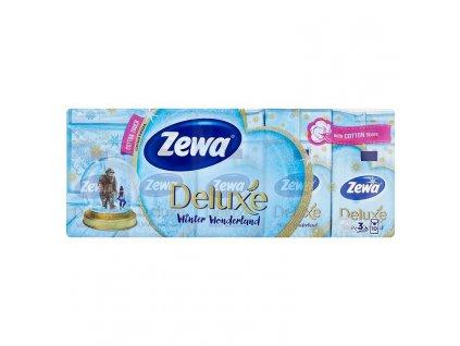 Zewa Deluxe Winter Wonderland papierové hygienické vreckovky 10 x 10 ks
