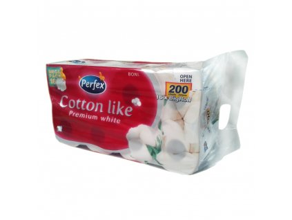 Perfex Cotton Like Premium White Big Roll toaletný papier 16ks 3vrst.