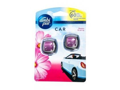 AMBI PUR Car Flowers & Spring osviežovač do auta 2x2ml