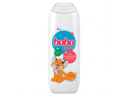 BABA detský sprchový gél a šampón na vlasy 2v1 250ml