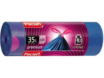 Paclan Premium vrecia na odpad zaťahovacie uši 2 vrstvové 35l 15ks