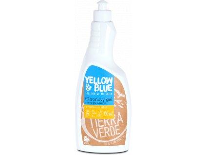 yellow blue gelovy cistic na vodni kamen s citronovou vuni