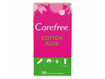 carefree cotton aloe pensos diarios