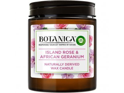 Botanica by Air Wick Exotická ruža a africká pelargónia 205 g