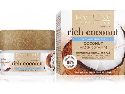 EVELINE Rich Coconut multi hydratačný kokosový krém 50ml