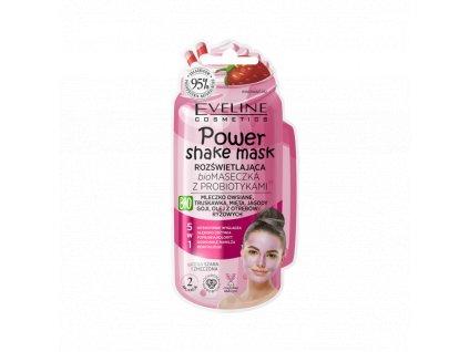 EVELINE power shake mask rozjasňujúca peelingová bio maska 10ml