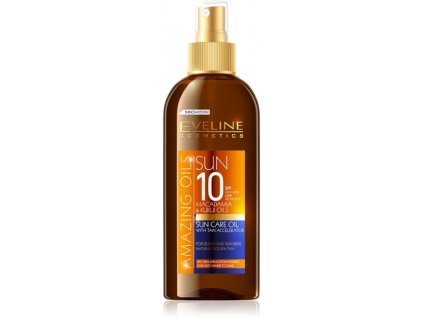 EVELINE SUN Amazing Oils olej na opaľovanie s urýchľovačom opaľovania SPF 10